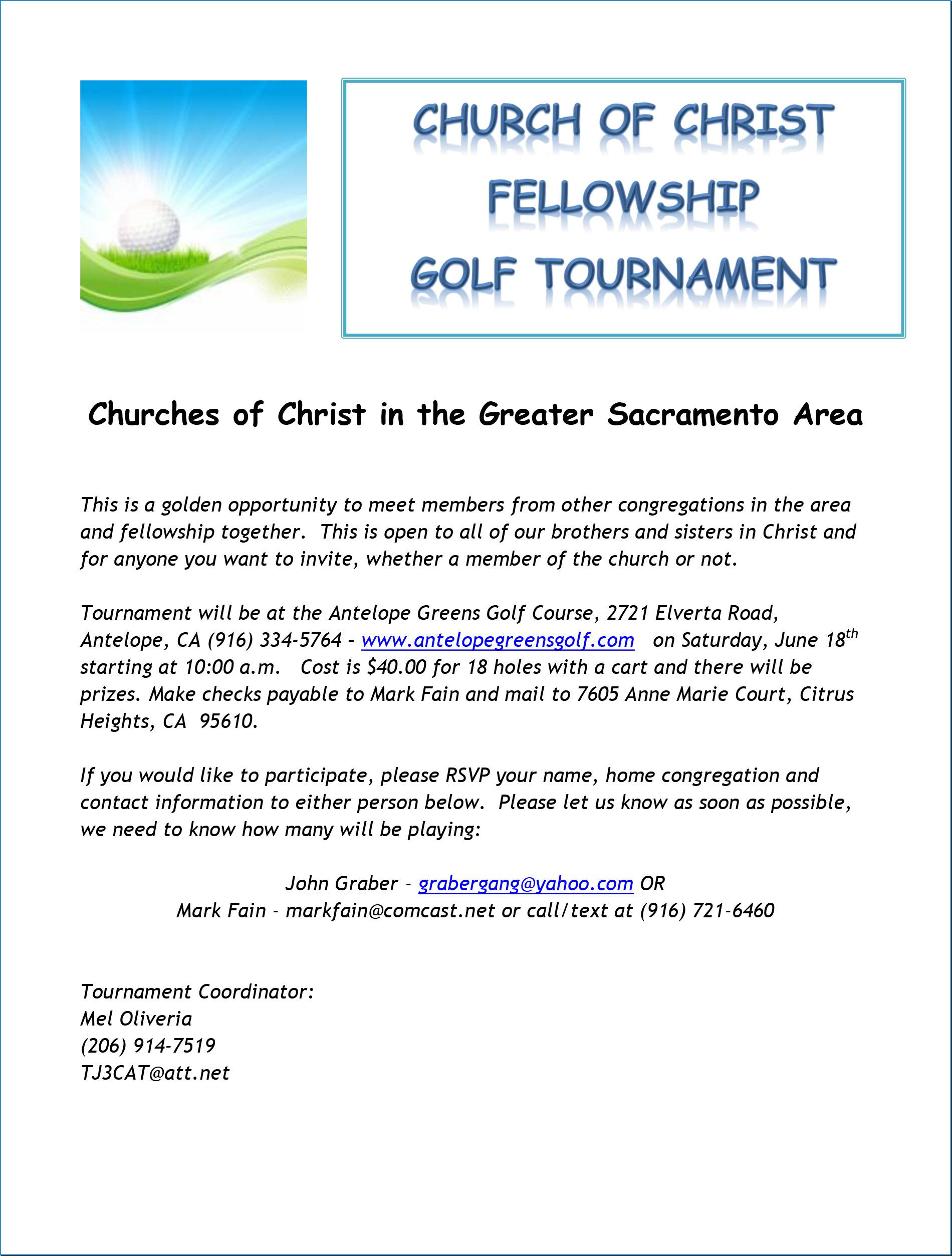 Church of Christ Fellowship Golf Tournament